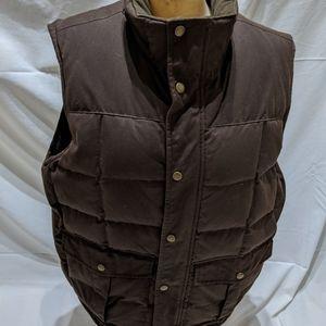 Men's LL Bean Waxed Cotton Down Vest